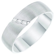 Palladium 950 Diagonal Diamond Set 6mm Matt Band - Product number 6093027