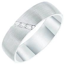 Palladium 950 Diagonal Diamond Set 6mm Matt Band - Product number 6093027