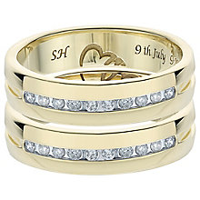 9ct Gold 1/5 Carat Diamond Band Set - Product number 6093159