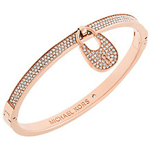 Michael Kors Rose Gold Tone Padlock Bangle - Product number 6094317