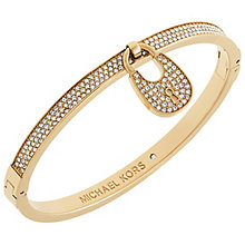 Michael Kors Yellow Gold Tone Padlock Bangle - Product number 6094341