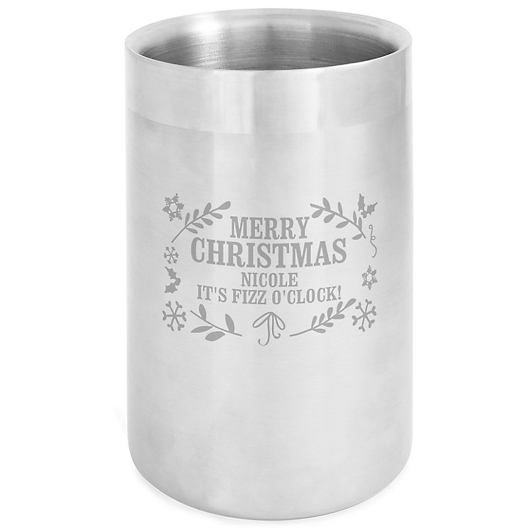 Engraved Christmas Frost Wine Cooler - Product number 6094856