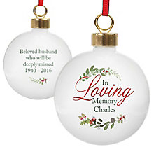 Personalised In Loving Memory Wreath Bauble - Product number 6094902