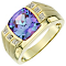 9ct Yellow Gold Created Alexandrite Ring - Product number 6095003