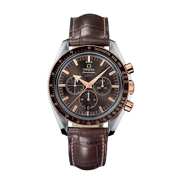 Omega Speedmaster Broad Arrow men's two-colour strap watch - Product number 6095127