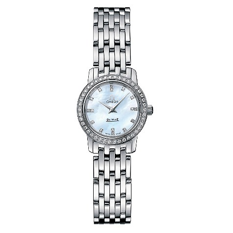 Omega ladies' mother of pearl dial bracelet watch