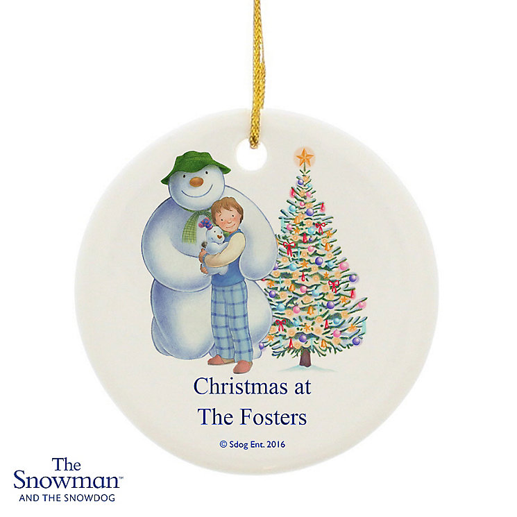 The Snowman and the Snowdog Friends Ceramic Decoration - Product number 6095356