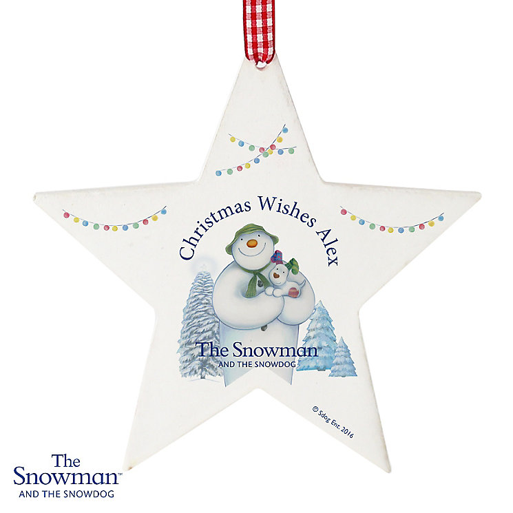 The Snowman and the Snowdog Star Decoration - Product number 6095402