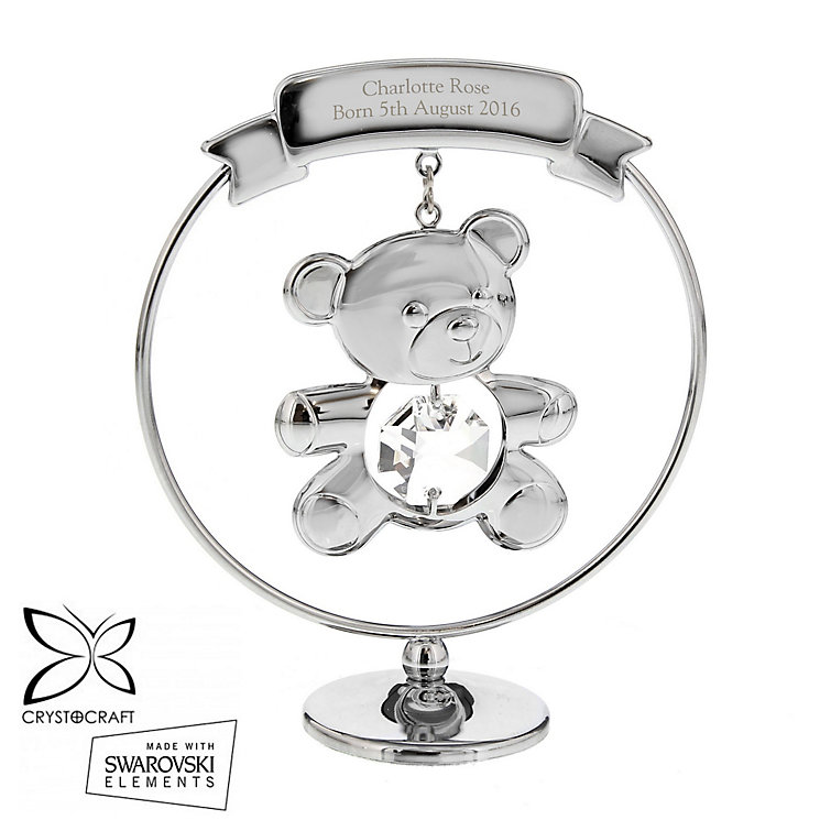 Engraved Crystocraft Teddy Bear Ornament - Product number 6095488