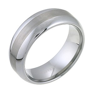 Tungsten Matt And Polish Ring