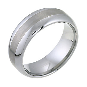 Tungsten Matt And Polish Ring - Product number 6097871