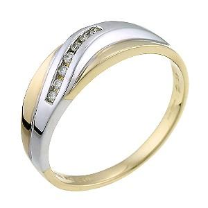 9ct Yellow Seven Diamond Ring
