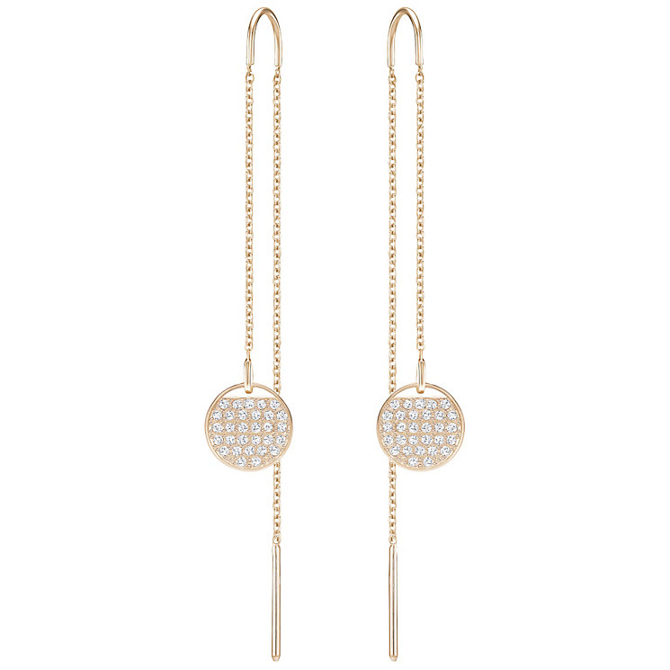 Swarovski Ginger Rose Gold Plated Drop Earrings - Product number 6100414