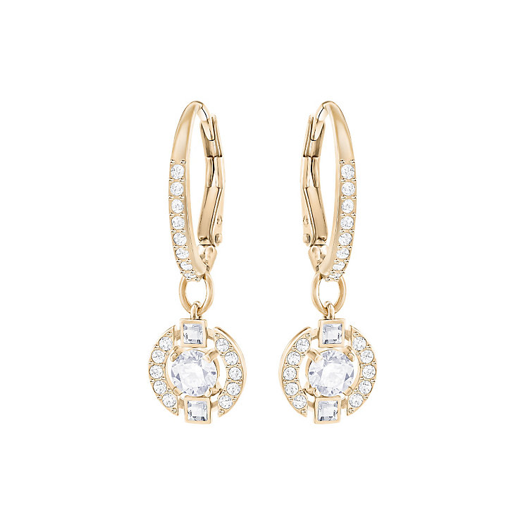 Swarovski Sparkling Dance Rose Gold Plated Drop Earrings - Product number 6100449