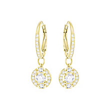 Swarovski Sparkling Dance Gold Plated Drop Earrings - Product number 6100554