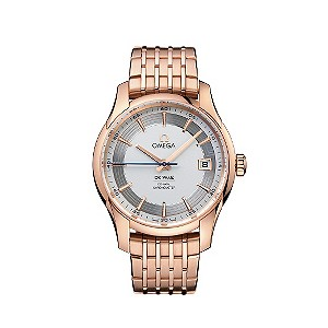 Omega De Ville Men S 18 Carat Rose Gold Bracelet Watch