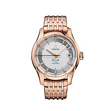 Omega De Ville Hour Vision men's 18ct rose gold watch - Product number 6100597