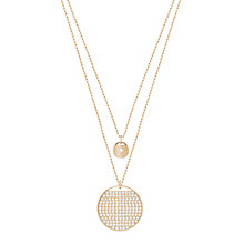 Swarovski Ginger Rose Gold Plated Pendant - Product number 6100627