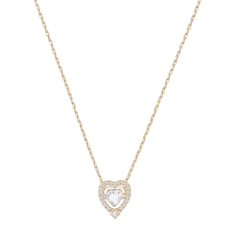 Swarovski Sparkling Dance Rose gold Plated Heart Pendant - Product number 6100775