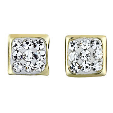 9ct Yellow Gold Crystal Stud Earrings 4mm - Product number 6102034