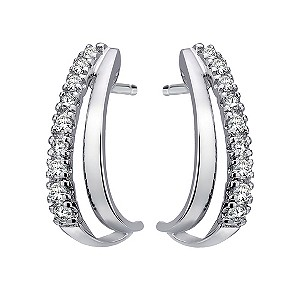 9ct White Gold Cubic Zirconia Earrings - Product number 6102328