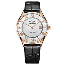 Rotary Les Originales Ultraslim Men's Black Strap Watch - Product number 6111726