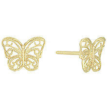 9ct Gold Filigree Butterfly Stud Earrings - Product number 6114350
