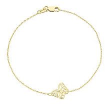 9ct Gold Filigree Butterfly Bracelet - Product number 6114733