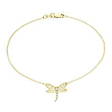 9ct Gold Filigree Dragonfly Bracelet - Product number 6114768