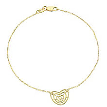 9ct Gold Filigree Heart Bracelet - Product number 6114776