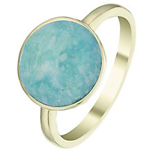 9ct Gold Amazonite Circle Ring - Product number 6114903
