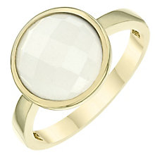 9ct Gold Moonstone Circle Ring - Product number 6115195
