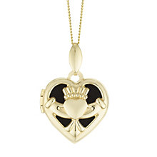 9ct Gold Cut Out Claddagh Heart Locket - Product number 6116183