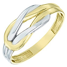 9ct Gold 2 Colour Loop Ring - Product number 6117791