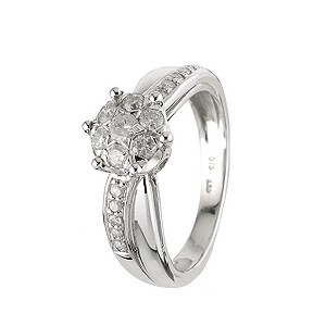9ct White Gold Half Carat Ring