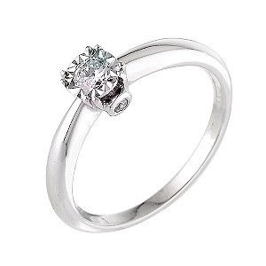 18ct White Gold Illusion Set Quarter Carat Diamond Ring