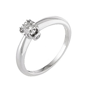 18ct White Gold Illusions Set Third Carat Diamond Ring