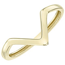 9ct Gold Plain Wishbone Ring - Product number 6129293