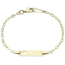 9ct Gold Cut Out Heart ID Bracelet - Product number 6129498