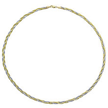 9ct Gold 2 Colour Herringbone Necklace - Product number 6129986