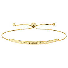 9ct Gold Diamond Cut Bar Bolo Bracelet - Product number 6129994