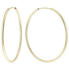 9ct Gold 30mm Hoop Earrings - Product number 6130062