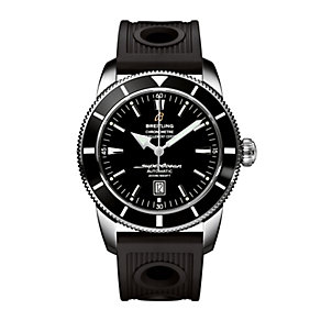 Breitling Superocean 46 men's black rubber strap watch - Product number 6131476