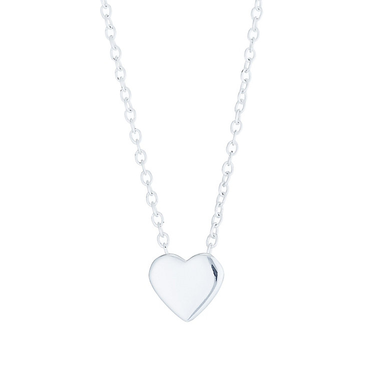 Sterling Silver Plain Heart Pendant - Product number 6135781