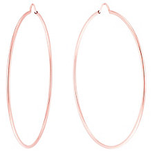 9ct Rose Gold Large Hoop Earrings - Product number 6137555