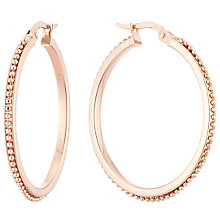 9ct Rose Gold Beaded Creole Earrings - Product number 6137598