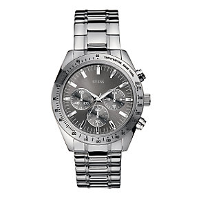 Guess Chase Men's Round Grey Dial Bracelet Watch - Product number 6138152