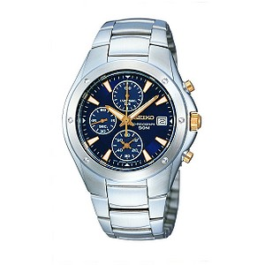 Seiko Stainless Steel Bracelet Blue Dial Watch - Product number 6138276