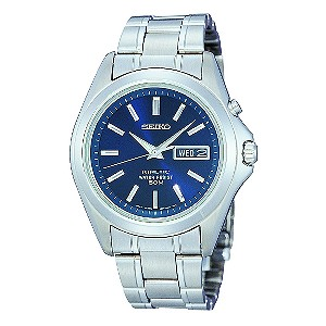 Seiko Men's Stainless Steel Blue Dial Bracelet Watch - Product number 6138322
