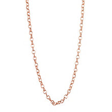 "9ct Rose Gold 18"" Belcher Chain Necklace - Product number 6138748"